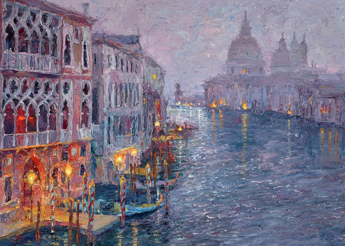 Dusk, Grand Canal, Venice